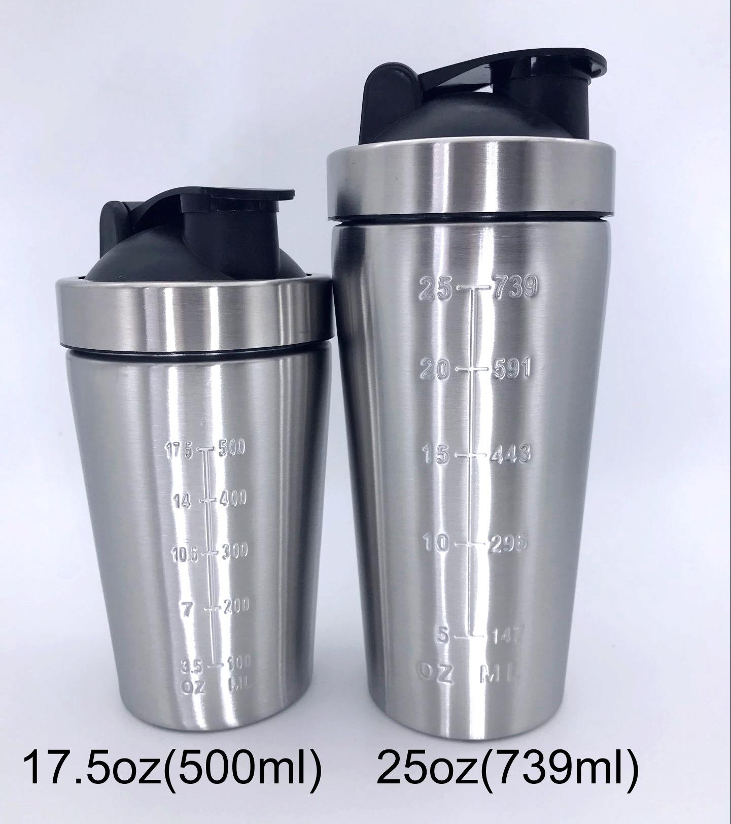 Custom Metal Protein Shaker 304 Stainless Steel Insulated