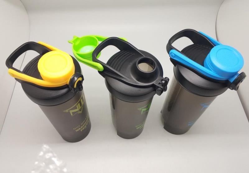 custom logo protein shaker 800ml bottle with button/lock