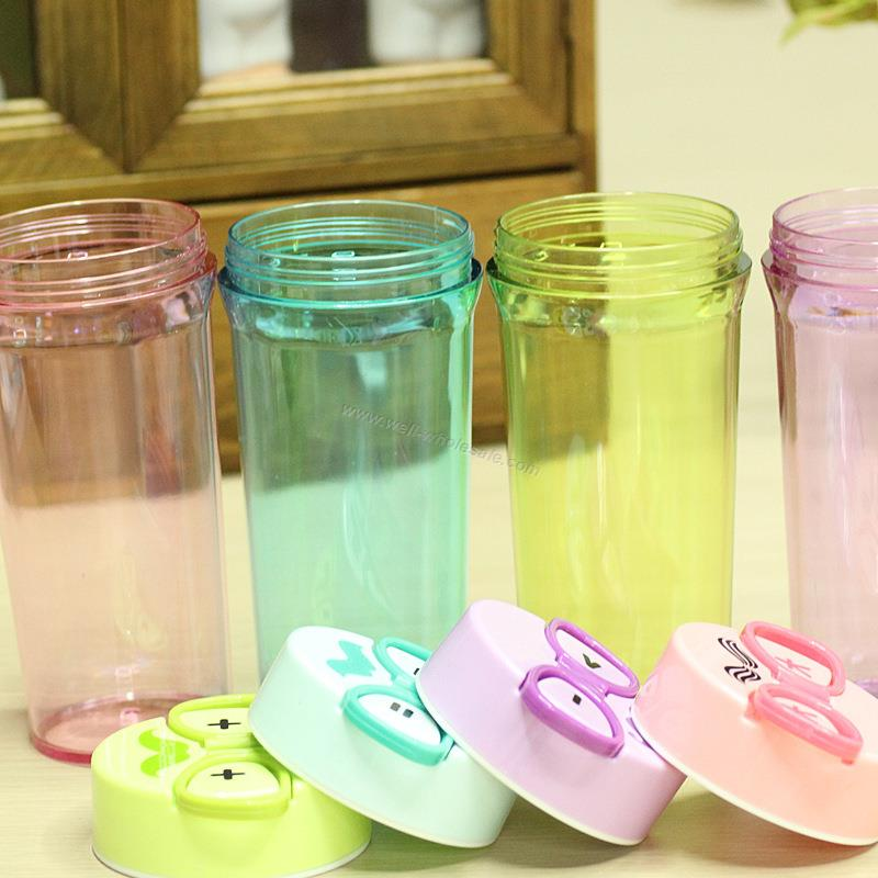 Glasses Shaped Handle Plastic Cup