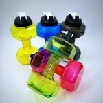 Dumbbell shape 2.2L jug 2.2 Liter gym fitness water bottle jug