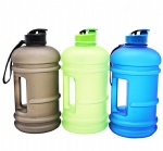 BPA FREE 2.2L plastic sports fitness drinking water bottle jug with side