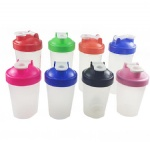 Custom Logo BPA Free 20Oz Plastic Protein Shaker Bottle with mixing ball and Colorful Lid