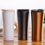 Wholesale customized logo Couple Coffee Cup Double Wall Vacuum Stainless Steel Car Insulation Cup