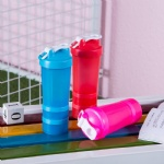 protein powder shake cup plastic water cup sports fitness protein powder cup