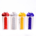 7 Day daily Pill Planner box storage Protein Shaker Bottle bpa free with pill box
