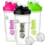 pink protein shaker bottle