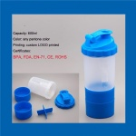 600ml BPA Free custom protein shaker bottle