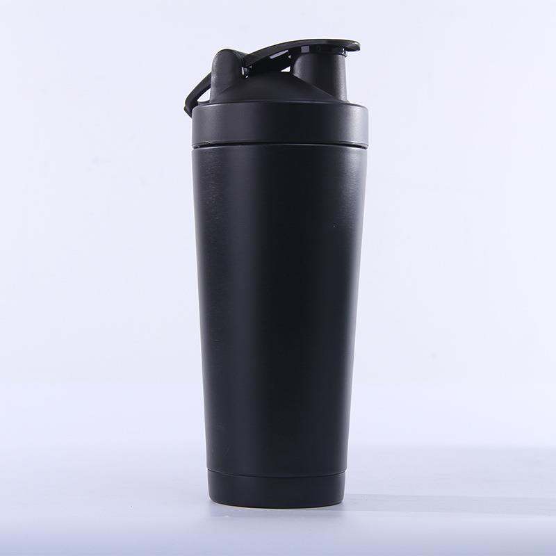 New design 750ml stainless steel protein shaker bottle