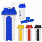 2017 New 700ML Protein Shaker Cup With Pill Box Shaker Bottle
