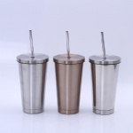 Stainless Steel Straw Cup Heat Preservation Coffee Cup