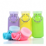 460ML&660ML BPA Free Durable and Foldable Silicone Water Bottle