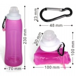 Wholesale Outdoor Silicone Foldable Bpa Free Water Bottle