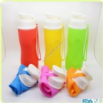Outdoor Sport Bottle Foldable Silicone Water Bottle
