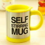 stirring coffee mug