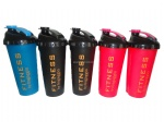 Promotional PP Plastic blender bottle with metal mixed ball